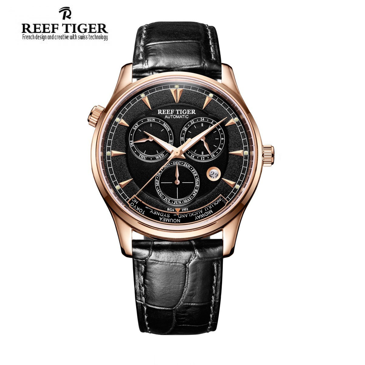 designer black watches